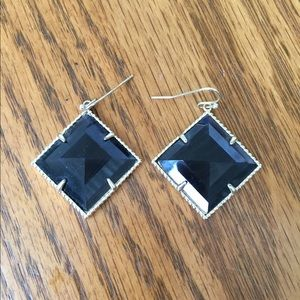 Kendra Scott black drop earrings